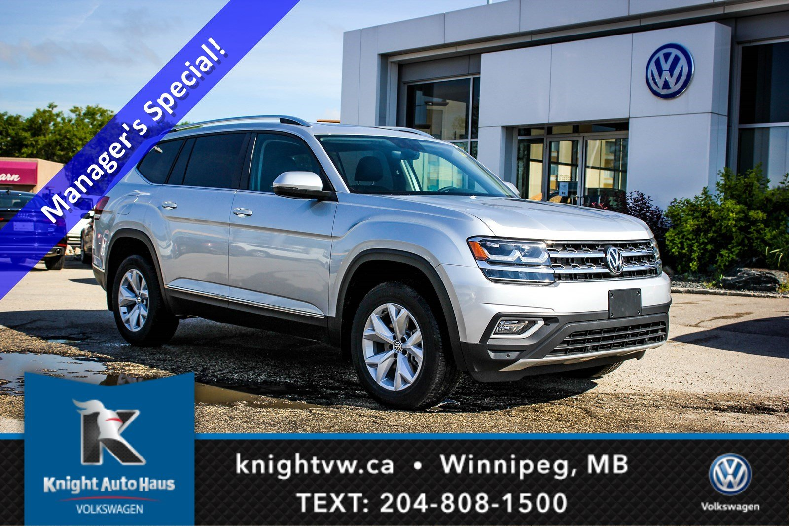 New 2018 Volkswagen Atlas Highline AWD w/ Captains Seats/Sunroof/App Connect/Backup Cam/Nav