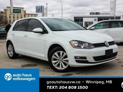 Certified Pre-Owned 2015 Volkswagen Golf Comfortline 5Doors w/ Leather 0.9% Financing Available OAC.