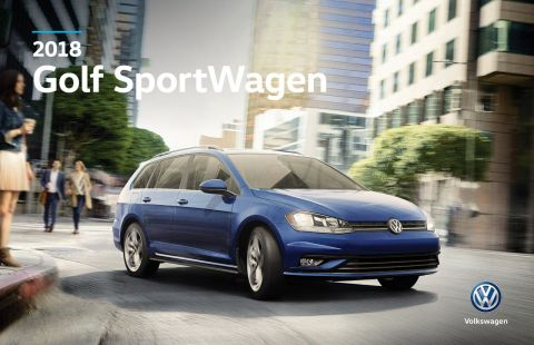 New 2018 Volkswagen Golf SportWagen Comfortline AWD w/ DSG/Panoramic Sunroof/App Connect